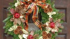 How to make a Christmas Wreath. DIY craft instructions for how to make and how to decorate a Christmas wreath. Includes some unique Christmas wreath ideas! Candy Christmas Decorations, Christmas Wreaths To Make, Diy Christmas Ornaments, All Things Christmas, Holiday Crafts, Christmas Ideas, How To Decorate A Wreath, Christmas Bows, Christmas Mantels