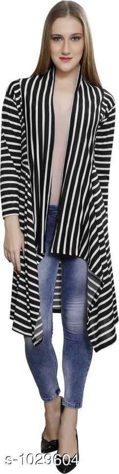 Capes, Shrugs & Ponchos Stylus Lycra Shrugs  *Fabric* Lycra  *Sleeves* Sleeves Are Included  *Size* M - 34 in, L - 36 in, XL- 39 in  *Length* Up To 34 in  *Type* Stitched  *Description* It Has 1 Piece Of Women's Shrug  *Pattern* Striped  *Sizes Available* Free Size, M, L, XL *   Catalog Rating: ★4 (113)  Catalog Name: Cora Stylus Lycra Shrugs Vol 18 CatalogID_124406 C79-SC1024 Code: 904-1029604-