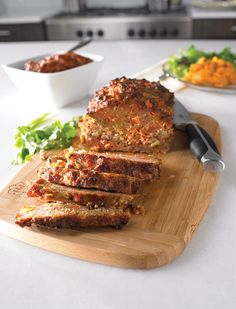 Chorizo and Chipotle Meatloaf with a Spicy Chipotle Glaze and Chipotle Mashed Sweet Potatoes - Muy Bueno Cookbook How To Cook Meatloaf, How To Cook Beef, Cooking Meatloaf, Mexican Entrees, Mexican Food Recipes, Beef Dishes, Food Dishes, Food Food, Main Dishes
