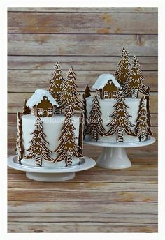 Gingerbread Forest House Christmas Cake from Blossom Tree Cake Co Harrogate North . - Gingerbread Forest House Christmas Cake from Blossom Tree Cake Co Harrogate North … - Christmas Cake Decorations, Christmas Sweets, Christmas Cooking, Holiday Cakes, Noel Christmas, Christmas Goodies, Holiday Treats, Christmas Cakes, Christmas Cake Designs
