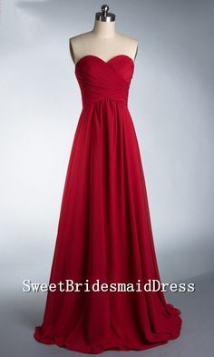 formal evening gown in red