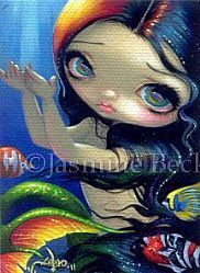 Art: Reaching For Sunset ACEO by Artist Jasmine Ann Becket-Griffith