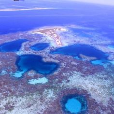 Aerial shot of the Abrolhos Islands