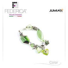 Bracelet RITA 2 Stretch metal and crystal bracelet. Green. 1.900,00 Ksh http://www.federicafashion.com/it/ep104/bracelet-rita-2/ http://www.jumia.co.ke/federica-fashion/