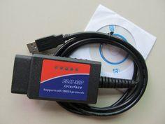 elm327 usb obd2 auto car diagnostic tool v1.5 USB Interface OBDII CAN-BUS Scanner #Affiliate
