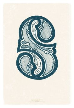 S is for Serendipity -- Type Defined by Thomas Price, via Behance #lettering