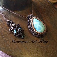 とりあえず、滞納してるヘッド達にも首紐を!! #macrame#pendant #necklace #accessories #Fashion #gemstone #天然石#パワーストーン#ネックレス#ペンダント#アクセサリー#ハンドメイド#handmade#larimar #ラリマー #macramearthide