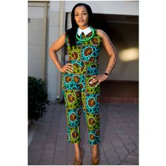 Boom! #afrokulcha online www.afrokulcha.com African Print Clothing, African Dress, African Fashion, Jumpsuit, Classy, Culture, Inspiration, Clothes, Dresses