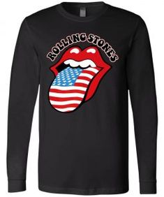 American Rock Band Rolling Stones Tongue Long Sleeve - UnicornAZ - Fortnite, Sport, Trending apparel Chiefs Shirts, Mickey Shirt, Rolling Stones, Rock Bands, Rolls, Graphic Sweatshirt, Sport, American, Long Sleeve