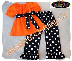 Girl Fall Pumpkin Patch Outfit Clothes Baby Infant Toddler Newborn Thanksgiving Pant Set 3 6 9 12 18 24 month size 2T 2 3T 4T 4 5T 5 6 7 8