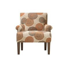 Mum Accent Chair featuring polyvore, home, furniture, chairs, accent chairs, chair, pattern accent chairs, colored chairs, patterned chairs and colored furniture