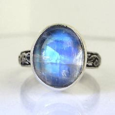 Rainbow Moonstone Pattern Band Sterling by PassionateJewelry, $72.00