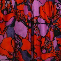 Boldly Go Floral Silk-Rayon Matte Jersey - Reds/Purples - Gorgeous FabricsGorgeous Fabrics