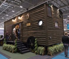This custom built shepards hut on wheels featured at Grand Designs Live London This bespoke caravan is perfect for summer living, holiday rental or just as a garden getaway space. Grand Designs Live, List, Be Perfect, Caravan, Bespoke, Wheels, Gardens, London, Space