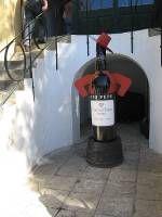 Tio Pepe himself waits to greet visitors to the Bodega Gonzalez Byass in Jerez de la Frontera!