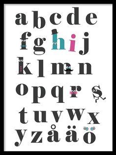 Plansch med alfabetet