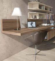 Contemporary desk / melamine / wall-mounted