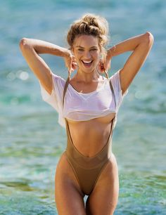 Candice Swanepoel. Outtake from Maxim USA March 2015. Photographed by Gilles Bensimon.