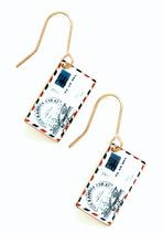 Postage Do Earrings | Mod Retro Vintage Earrings | ModCloth.com-cute earring inspiration for shrink plastic