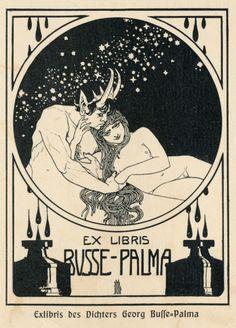 "Ex Libris ""Satyr"" by Ephraim Moses Lilien"