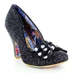 Irregular Choice Nick Of Time 4135-14Z Womens Wedding Court Shoes - Black