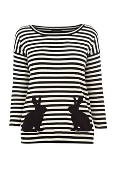 Stripes AND bunnies... I need this shirt!!! <3