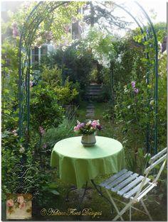 Garden retreat tea table