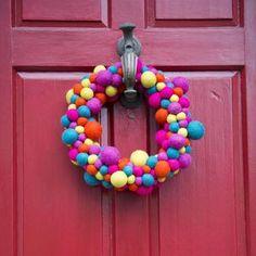 Colourful Handmade Felt Christmas Wreath - wreaths