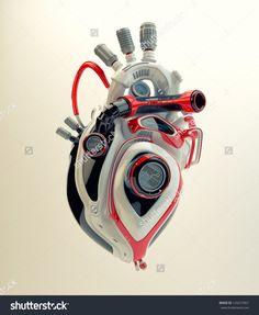 stock-photo-futuristic-plastic-heart-d-render-robotic-engine-heart-129257867.jpg (1312×1600)