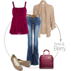Beige and Berry