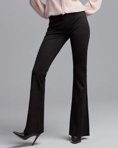 mid rise pull-on flare pant