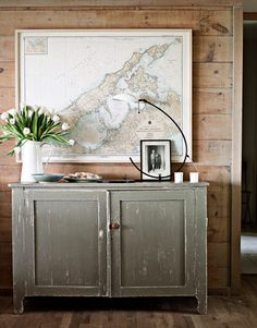 Map wall art.