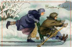 By Finnish illustrator INGE LÖÖK Finnish} Hauskaa Joulua ❥ English} Fun Christmas