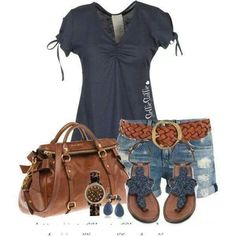 Navy ,browns ! My kind of outfit and the purse done deal.