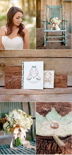 Adorable wood themed invites
