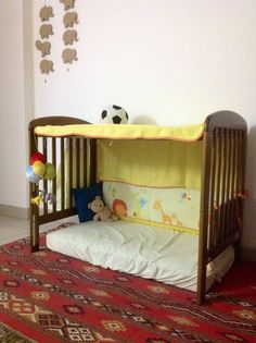 Pinterest inspired repurposed cot bed...