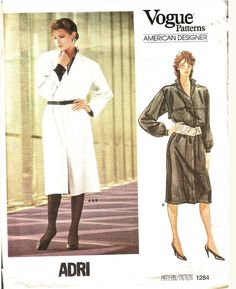 Adri was the professional name of Mary Adrienne Steckling an American fashion designer. She launched her own line in 1966 and received the Coty Award in 1982 (ref. Vintage Denim, Vintage Fashion, Vogue Patterns, Vintage Sewing Patterns, Old And New, Casual Chic, Cold War, Retro, Clothing Ideas