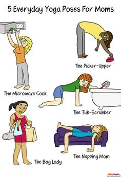 5 Everyday Yoga Poses for Moms