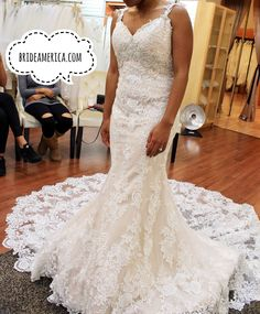 Trendy Wedding Dress at Bridal and Veil in San Diego California