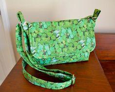 Green crossbody bag leaf green bag St Patricks by RobynFayeDesigns