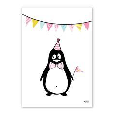 Pingvin fødselstavle pige / MUUI