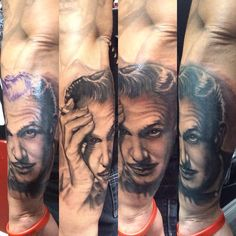 Portrait of Vincent Price Las Vegas tattoo shop hypnotic tattoos