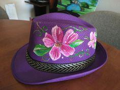 #sombrero pintado a mano