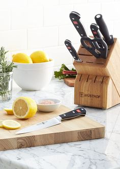 Chop, slice, dice and carve with ease with a Wusthof knife from Crate and Barrel. Wusthof knives feature high-carbon, hardened-steel blades for excellent cutting as well as ergonomic handles for easy gripping. Browse our selection of knife sets and individual Wusthof knives, including paring, utility, steak, vegetable, bread, carver-slicer and more.