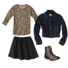 Girls Leopard Print Outfit