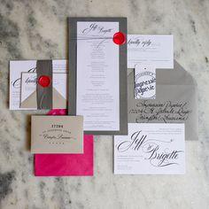 calligraphy wedding invitations - GK Photography - http://ruffledblog.com/notwedding-new-orleans
