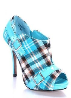 electric bright blue shoes