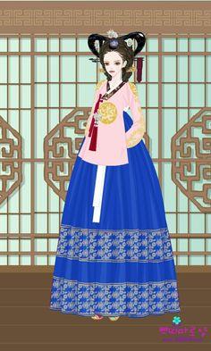 Korean Traditional Dress, Traditional Dresses, Court Dresses, Korean Hanbok, Chinese Art, Chibi, Fairy Tales, Nursery, Crystal
