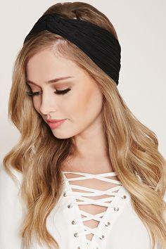 Pintucked Twist-Front Headwrap Head Wrap Headband 2d7573123e0