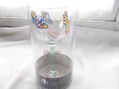 New Cypress Home Hand Painted Wine Glass Shoes Stemware #CypressHome